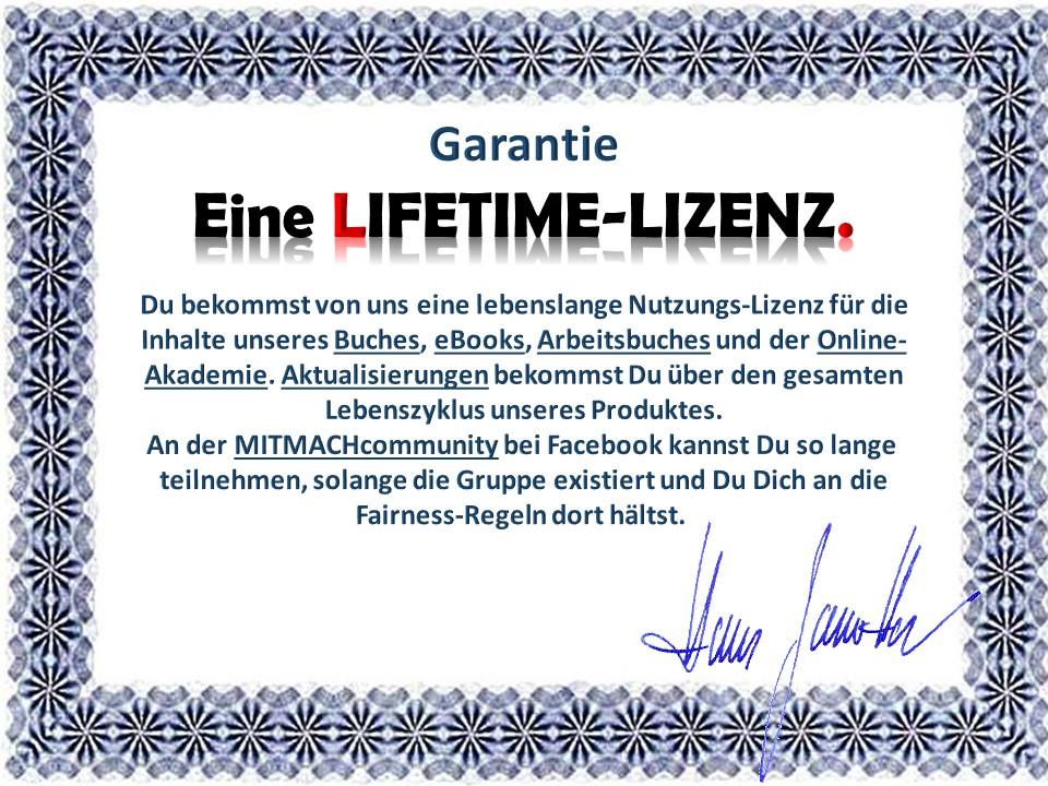 lizenz lifetime lebenslang